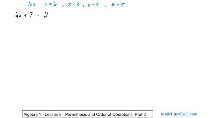 Algebra 1 Unit 1 Lesson 14 Equations And Domain Of Variables