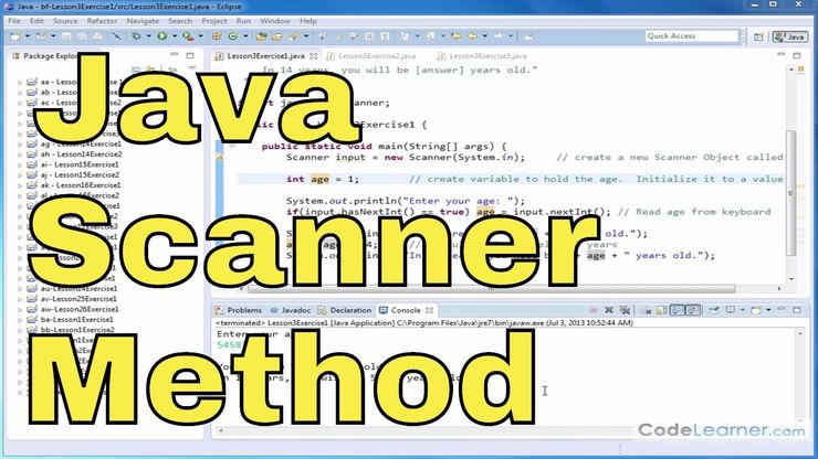 Learn Java - Exercise 03x - Use Scanner to Read Keyboard Integers & Double  Data Types