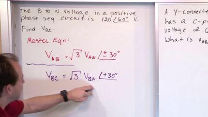 12 - Convert Between Line-to-Neutral And Line-to-Line Voltage - AC