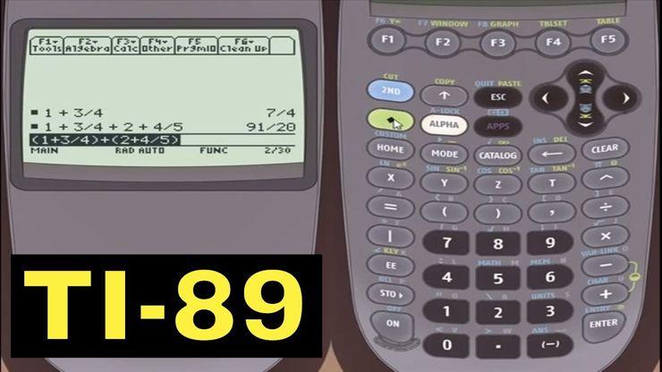 TI-89 Calculator - 10 - Using the Algebraic Equation Solver