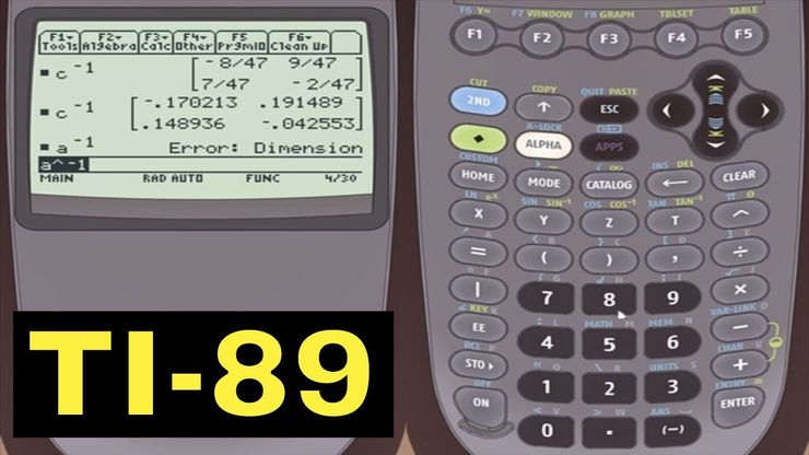TI-89 Calculator - 14 - Creating and Editing Matrices - TI