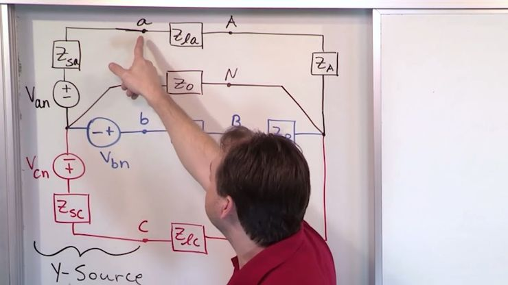 05 - Three Phase Voltage Sources - Wye And Delta - AC