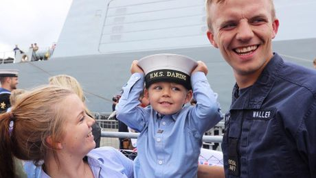HMS Daring Crew Cheered Home After Nine-Month Mission