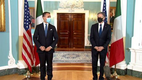 Secretary Blinken bilat with Italian Foreign Minister Luigi Di Maio, at the Department of State.