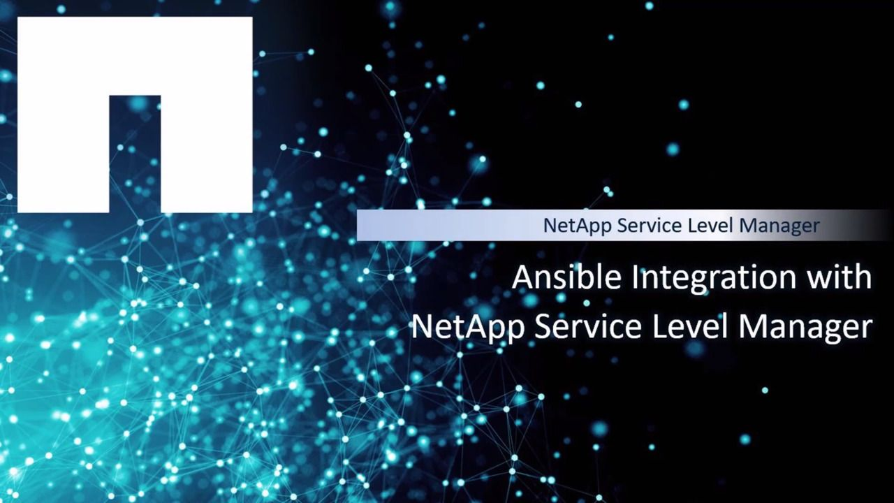 Integration of NetApp Service Level Manager and Ansible