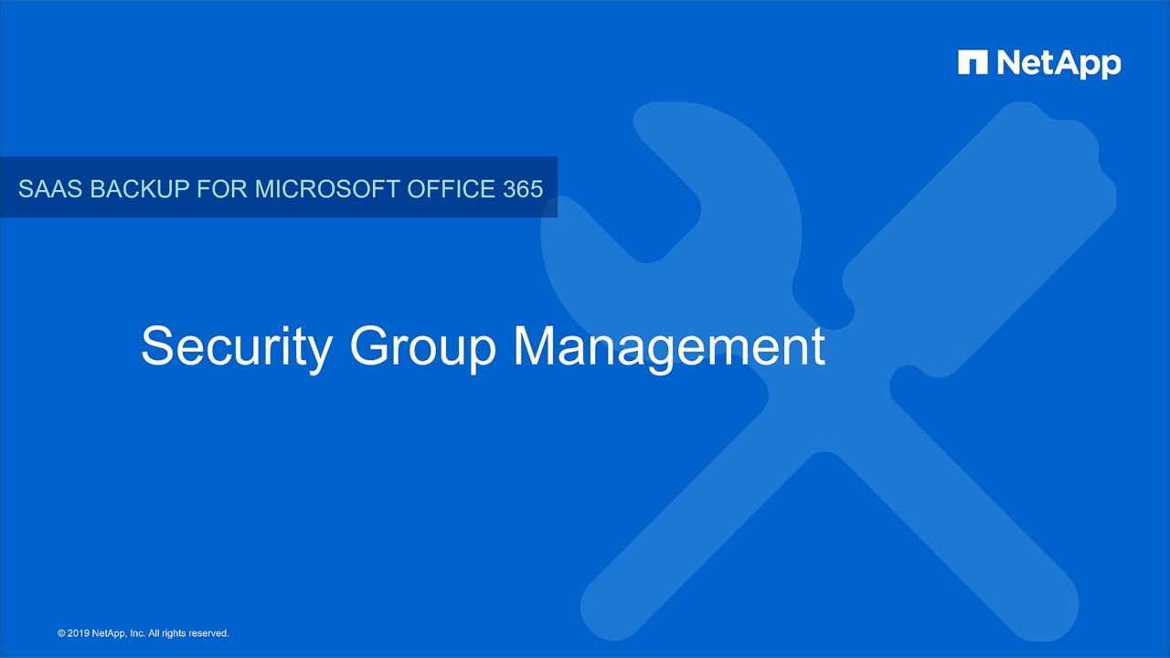 Security Group Management in NetApp SaaS Backup