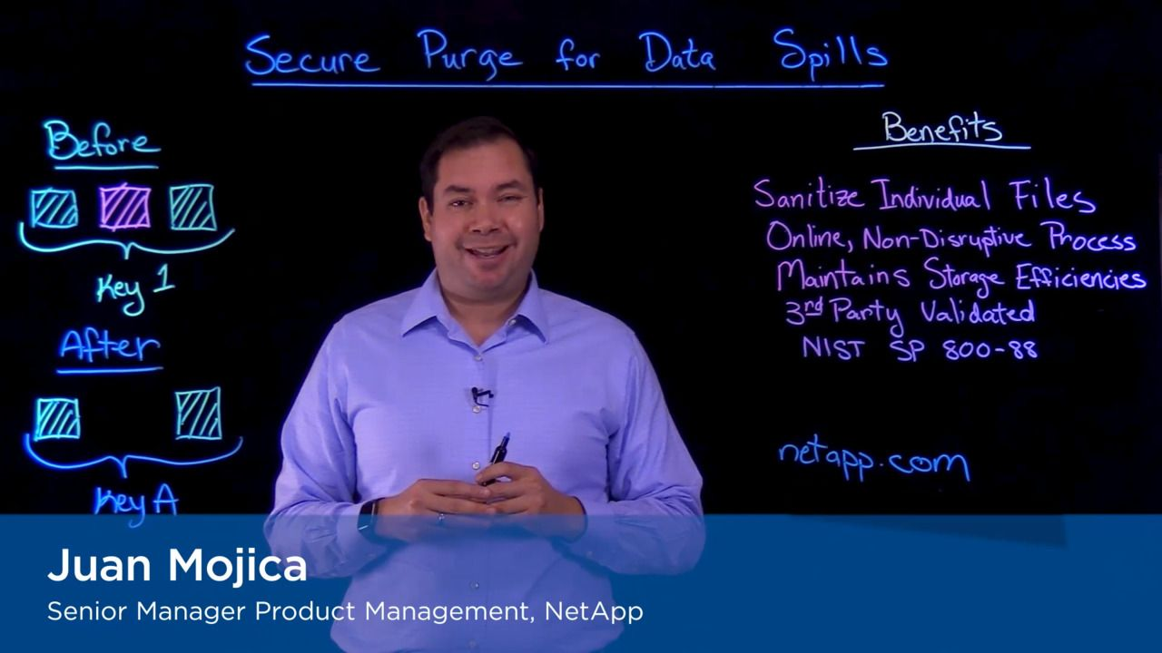 Handling Data Spills with NetApp Secure Purge