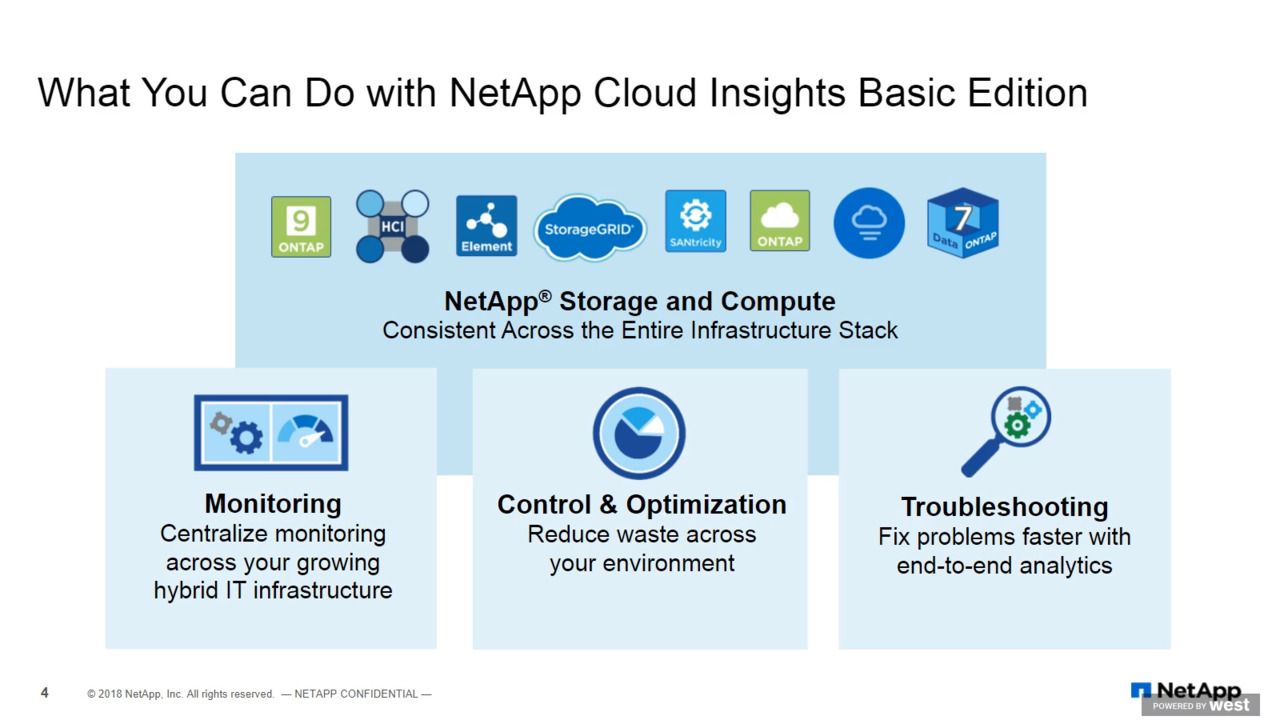 Activate NetApp Cloud Insights Basic Edition to Monitor and Optimize Your Infrastructure