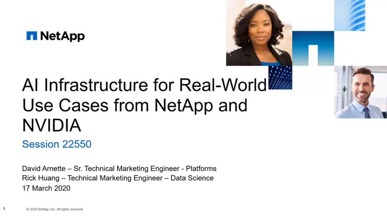AI Infrastructure for Real-World Use Cases from NetApp and NVIDIA