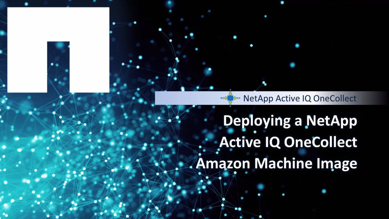 Deploying a NetApp Active IQ OneCollect Amazon Machine Image