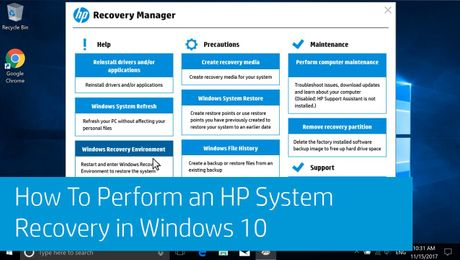 How To Perform an HP System Recovery in Windows 10