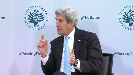 Secretary Kerry Participates in Passing the Baton Event