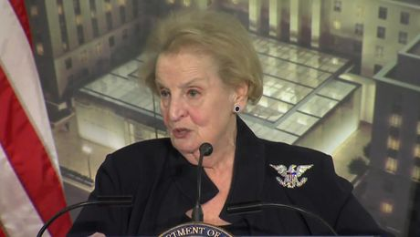 Remarks by 64th Secretary of State Albright at U.S. Diplomacy Center Pavilion