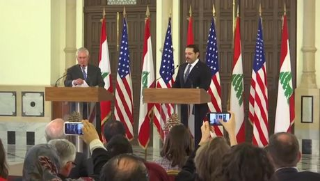 Secretary Tillerson Holds a Joint Press Availability with Lebanese Prime Minister Hariri in Beirut