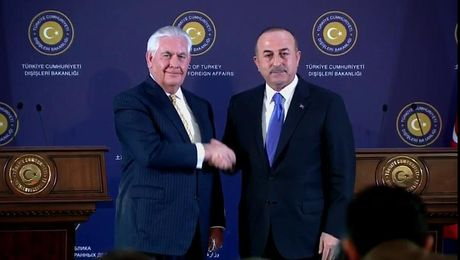Secretary Tillerson Participates in a Press Availability with Turkish Foreign Minister Cavusoglu