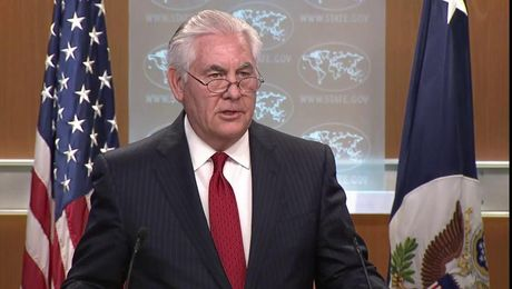 Secretary Tillerson Makes On-Camera Remarks in Press Briefing Room