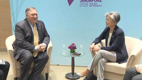 Secretary Pompeo Meets with Republic of Korea Foreign Minister  Kang Kyung-wha