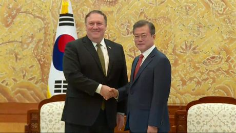 Secretary Pompeo Meets President Moon in Seoul