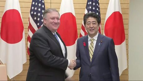 Secretary of State Michael R. Pompeo Meets with Japanese Prime Minister Shinzo Abe in Tokyo, Japan.