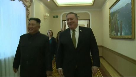 Secretary of State Michael R. Pompeo Meets  North Korean President Kim Jong Un in Pyongyang.