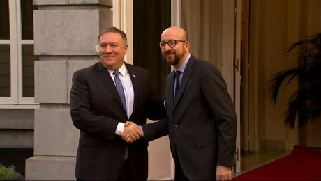 Secretary Pompeo Meets with Belgian Prime Minister Charles Michel, in Brussels, Belgium.