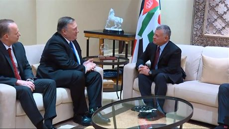 Secretary Pompeo meets with King Abdullah II of Jordan, in Amman, Jordan.