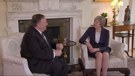 Secretary Pompeo Meets with UK Prime Minister Theresa May, in London, United Kingdom