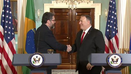 Secretary Pompeo's Remarks to the Press With Brazilian Foreign Minister  Ernesto Araujo