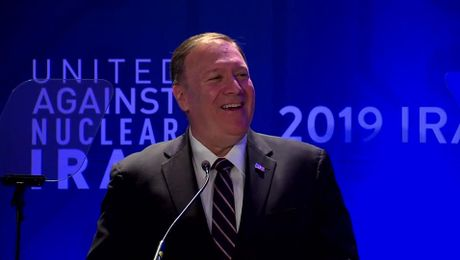 "Secretary Pompeo remarks at ""United Against Nuclear Iran's 2019 Iran Summit."""