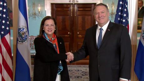 Secretary Pompeo meets with El Salvadoran Foreign Minister Alexandra Hill