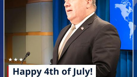 Secretary Pompeo's Happy 4th of July message.