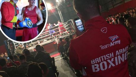 Army Boxing Captain Defends English Super Heavyweight Belt