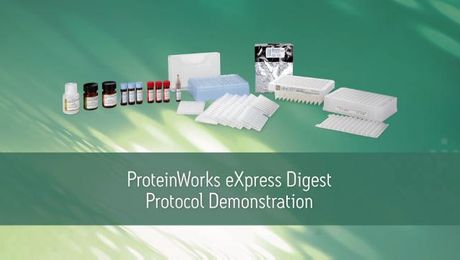 Waters Proteinworks 5-step protocol demo
