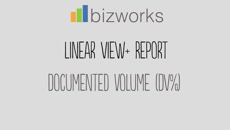 Linear View PLUS: Documented Volume %