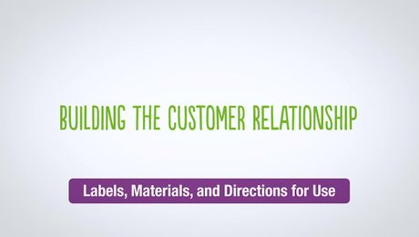 Building the Customer Relationship -  Directions for Use
