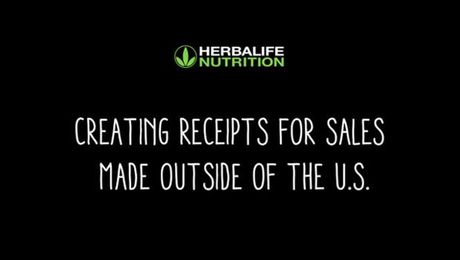 Creating Receipts for Sales made outside of the US