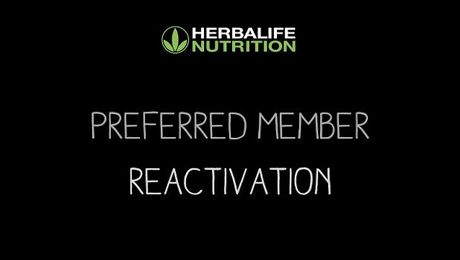 Preferred Member Reactivation