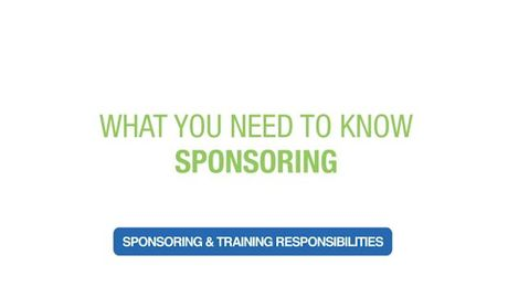 Sponsoring & Training Responsibilities