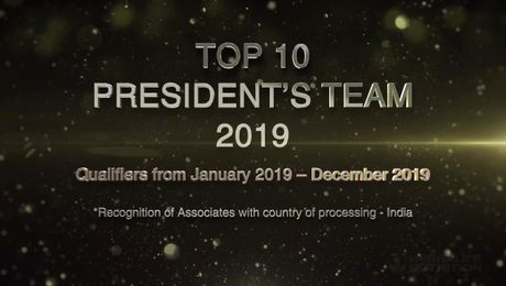 Top President's Team  for the year 2019