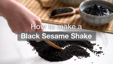 Asian Recipe - Black Sesame Shake