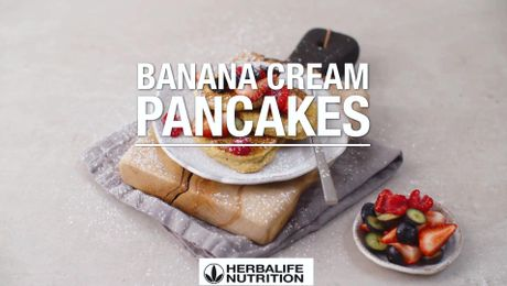 Banana Cream Pancakes