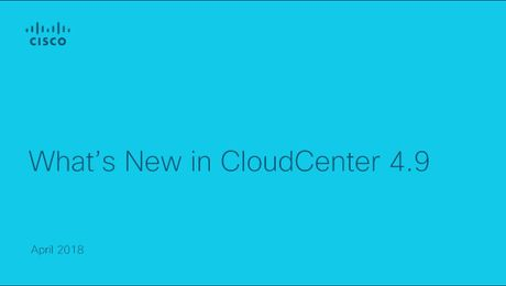 CloudCenter What's New 4.9